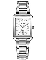 cheap -fashion rectangle dial quartz watches women stainless steel strap dress watch for woman waterproof simple analog wristwatch girls lady silver