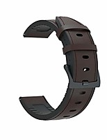 cheap -22mm width quick release genuine leather and tpu strap replacement smart watch wrist band bracelet compatible with huawei watch gt/watch gt2