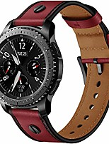 cheap -fit for samsung gear s3 frontier watch bands for women men, 22mm quick release leather replacement bands straps wristbands bracelet for samsung gear 3 classic, fossil gen 5 carlyle (red)