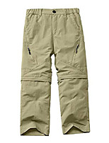 cheap -kids' cargo pants, boy's casual outdoor quick dry waterproof hiking climbing convertible trousers