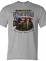 cheap -vietnam vet home of the free because of the brave performance t-shirt (x-large) grey