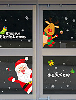 cheap -Christmas Decorations / Holiday Wall Stickers Animal Wall Stickers Decorative Wall Stickers, PVC Home Decoration Wall Decal Wall / Window Decoration 1pc