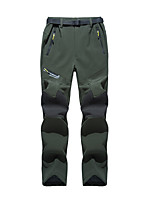 cheap -Men's Softshell Pants Solid Color Outdoor Standard Fit Warm Soft Anti-tear Multi-Pocket Pants / Trousers Black Army Green Grey Fishing Climbing Camping / Hiking / Caving L XL XXL XXXL
