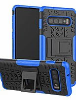 cheap -galaxy s10 case, shockproof heavy duty combo hybrid rugged dual layer grip cover with kickstand for samsung galaxy s10 smartphone (not fit samsung galaxy s10 lite /s10 plus),blue