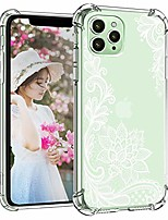 cheap -compatible with iphone 12 pro case cute 5g clear cover girly women protective mandala floral hippie slim reinforced corner shock-proof soft tpu shell compatible with iphone 12/12 pro 6.1 white
