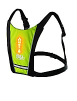 cheap -bikeman cycling hiking safety backpack vest with led turn light indicator (yellow)