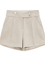 cheap -Women's Basic Streetwear Comfort Daily Going out Shorts Pants Solid Colored Short Pocket Black Khaki Brown