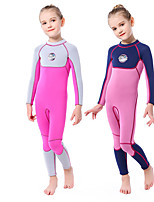 cheap -SLINX Girls' Full Wetsuit 3mm Nylon SCR Neoprene Diving Suit Thermal Warm Long Sleeve Back Zip - Swimming Diving Surfing Patchwork Spring &  Fall Winter / Stretchy / Kids