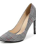 cheap -women's glitter pumps pointed toe stiletto high heels slip on plaid black 38 - us 7
