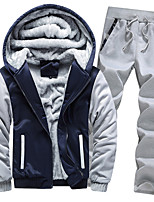 cheap -akimpe men's outwear for mens hoodie winter warm fleece zipper sweater coat,thick coats gray l5