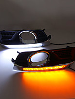 cheap -2Pcs Daytime Running Light DRL LED Fog Lamp Cover With Yellow Turning Signal Functions For Cadillac SRX 2010-2015