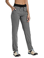 cheap -fitst4 women's light weight quick drying outdoor hiking trekking cargo pants with drawstring hem gray