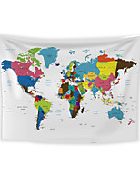 cheap -Wall Tapestry Art Decor Blanket Curtain Picnic Tablecloth Hanging Home Bedroom Living Room Dorm Decoration Polyester World Map Color