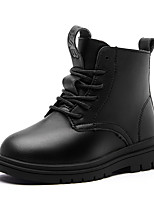 cheap -Girls' Boots Combat Boots PU Little Kids(4-7ys) Big Kids(7years +) Daily Walking Shoes Black Fall Winter / Mid-Calf Boots / TPR (Thermoplastic Rubber)