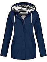 cheap -women rain jacket waterproof with hood lightweight raincoat outdoor windbreaker plus size dongdong
