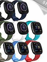 cheap -mocodi sense bands compatible with fitbit sense & fitbit versa 3, 8-pack soft tpu sport strap replacement wristband accessories women men for fitbit sense & versa 3 smart watch
