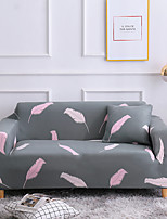 cheap -Feather Print 1-Piece Sofa Cover Couch Cover Furniture Protector Soft Stretch Slipcover Spandex Jacquard Fabric Super Fit for 1~4 Cushion Couch and L Shape Sofa,Easy to Install(1 Free Cushion Cover)