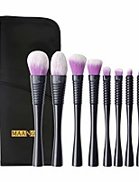 cheap -yjydada 9 pcs small pretty waist purple hair belt brush bag makeup brush set (black)