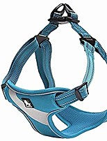 cheap -dog harness safety vest step-in style reflective adjustable comfortable tlh5991(blue,l)