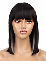 cheap -colorful wig synthetic straight hair middle part shoulder length bob wigs for women colorful fashion bob wigs (black/white)