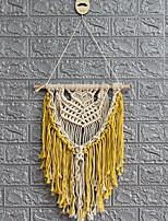 cheap -Hand Woven Macrame Wall Tapestry Bohemian Boho Art Decor Blanket Curtain Hanging Home Bedroom Living Room Decoration Nordic Handmade Tassel Cotton Yellow