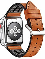 cheap -watch band compatible with apple watch band 38mm 40mm 42mm 44mm for men and women,genuine leather and rubber hybrid replacement strap for iwatch series 5/4/3/2/1 (brown, 38mm 40mm)