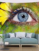 cheap -Wall Tapestry Art Decor Blanket Curtain Picnic Tablecloth Hanging Home Bedroom Living Room Dorm Decoration Polyester Modern Green Skin Eyes