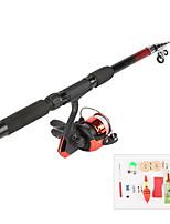 cheap -Fishing Rod and Reel Combo Telespin Rod 165 cm Portable Telescopic Lightweight Light (L) Sea Fishing Freshwater Fishing Bass Fishing / Trolling & Boat Fishing