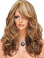 cheap -long wavy blonde ombre wig for women (brown)