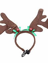 cheap -pet antlers headband christmas halloween costume dogs cats hair accessories,style 1