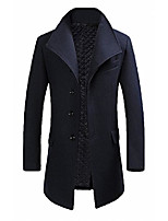 cheap -men's classical france style business formal warm wool coat #00001f navy m