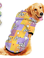cheap -Dog Hoodie Animal Milk Cows Printed Cute Casual / Daily Dog Clothes Puppy Clothes Dog Outfits Breathable Purple Yellow Blue Costume for Girl and Boy Dog Polyster S M L XL