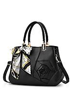 cheap -women flowers top handle handbags shoulder bag crossbody bag tote satchel for ladies pu leather black