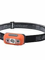 cheap -5w mini led headlamp - 60x 30mm waterproof rechargeable body motion sensor hands-free head light flashlight for runner/camper/hiker/hunter/fisherman/climber/biker/cyclist (orange)
