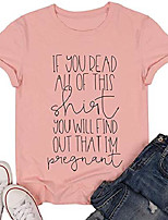 cheap -you will find out that i'm pregnant shirt top women cute funny graphic print letter shirt tee size xl (pink)