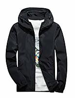 cheap -kstare men's lightweight bomber spring windbreaker casual zip hooded breathable outdoor sports jacket outerwear black