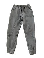 cheap -Women's Basic Comfort Daily Going out Jogger Sweatpants Pants Letter Full Length Pocket Drawstring Black Gray