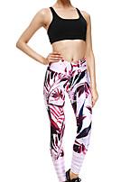 cheap -Women's Sporty Comfort Gym Yoga Leggings Pants Flower Ankle-Length Print Red