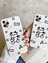 cheap -Case For Apple iPhone 12 / iPhone 11 / iPhone 12 Pro Max Shockproof / with Stand Back Cover Animal / Cartoon TPU