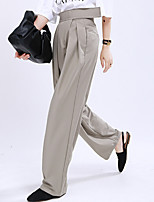 cheap -Women's Basic Streetwear Comfort Daily Going out Pants Chinos Pants Solid Colored Full Length Black Khaki