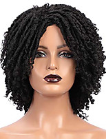 cheap -short dreadlock twist wigs for black women curly braided 1b# black wigs dread afro natural braid synthetic heat resistant daily wig z192bk