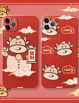 cheap -Case For Apple iPhone 12 / iPhone 11 / iPhone XR Shockproof Back Cover Animal / Cartoon Silica Gel