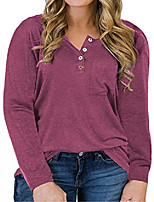 cheap -womens plus size tops 3x casual long sleeve shirts wine red 22w
