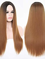 cheap -24'' wig for women synthetic straight wig middle part long daily wear halloween party wig cosplay custome