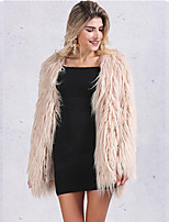 cheap -Long Sleeve Coats / Jackets Faux Fur Party / Evening / Office / Career Bolero With Fur