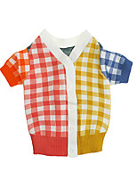 cheap -Dog Cat Coat Sweater Plaid Fashion Cute Casual / Daily Winter Dog Clothes Puppy Clothes Dog Outfits Breathable Rainbow Costume for Girl and Boy Dog Polyster XS S M L XL XXL