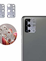 cheap -qwifey camera lens cover for samsung galaxy s20 plus, bling shining dots cover glitter camera lens protector film for s20 plus(silver, 2 pcs pack)