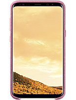 cheap -samsung original s8 plus alcantara back phone case cover - pink
