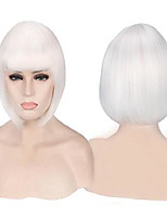 cheap -halloweencostumes womens short cosplay wigs costume wig halloween party wig (white)