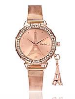 cheap -fashion women eiffel tower stainless steel quartz wrist watch